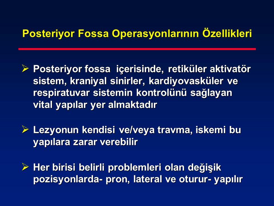 Posteriyor Fossa Operasyonlarının Özellikleri