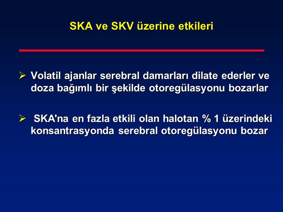SKA ve SKV üzerine etkileri