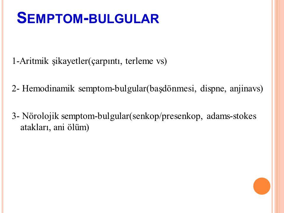 Semptom-bulgular