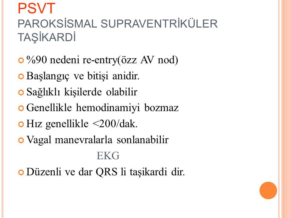 PSVT PAROKSİSMAL SUPRAVENTRİKÜLER TAŞİKARDİ