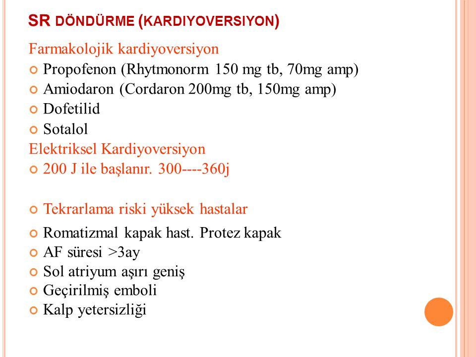 SR döndürme (kardiyoversiyon)