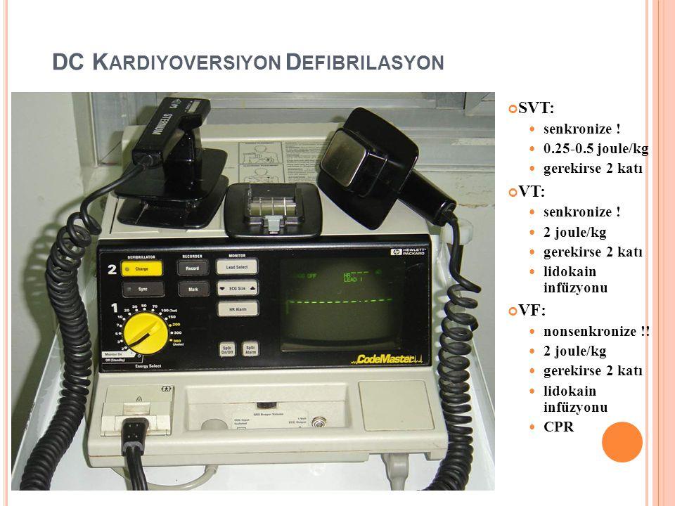 DC Kardiyoversiyon Defibrilasyon