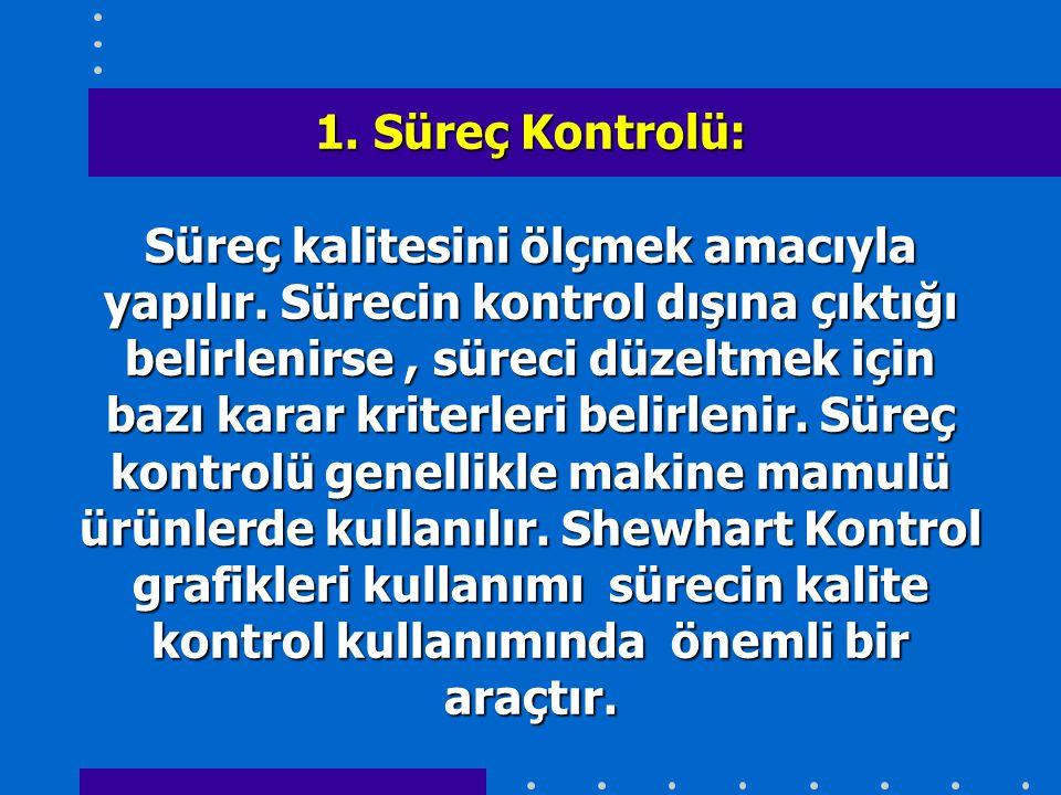 1. Süreç Kontrolü: