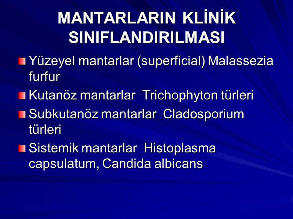 MANTARLARIN KLİNİK SINIFLANDIRILMASI