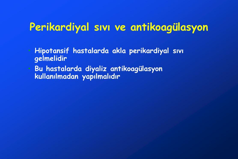 Perikardiyal sıvı ve antikoagülasyon