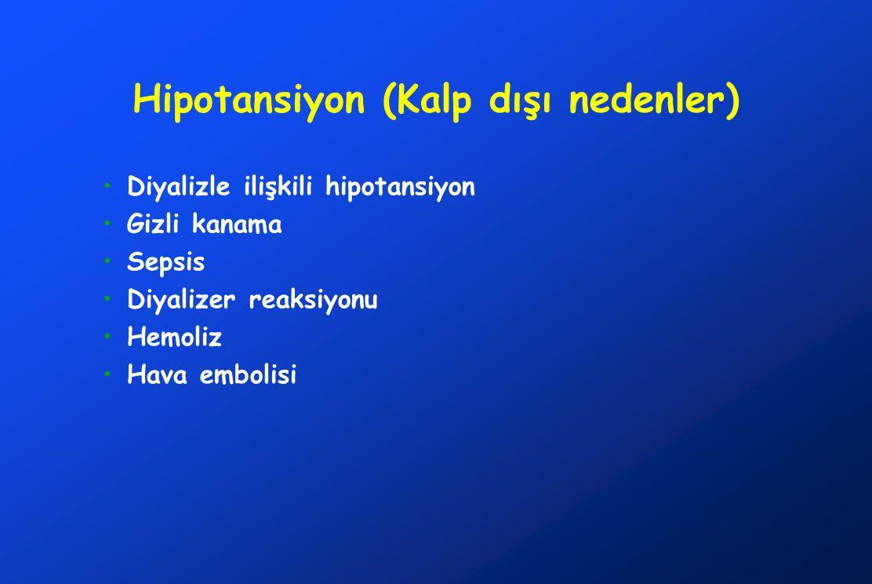 Hipotansiyon (Kalp dışı nedenler)