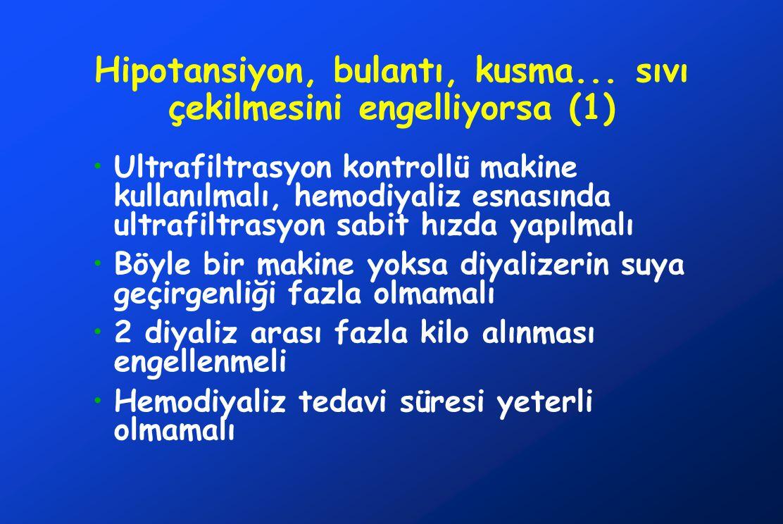 Hipotansiyon, bulantı, kusma... sıvı çekilmesini engelliyorsa (1)