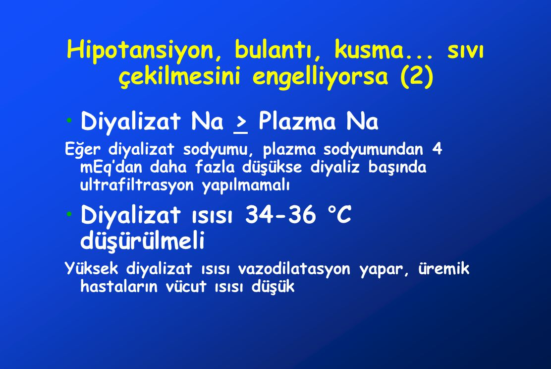 Hipotansiyon, bulantı, kusma... sıvı çekilmesini engelliyorsa (2)