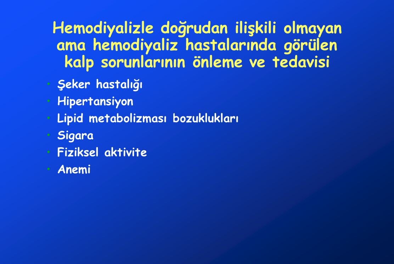 Hemodiyalizle doğrudan ilişkili olmayan ama hemodiyaliz hastalarında görülen kalp sorunlarının önleme ve tedavisi