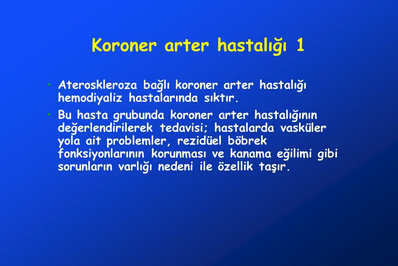 Koroner arter hastalığı 1