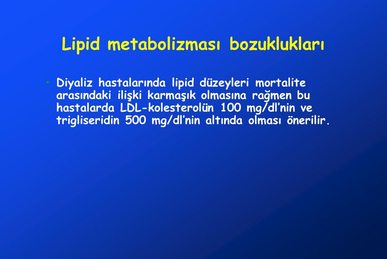 Lipid metabolizması bozuklukları