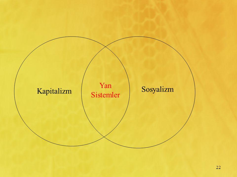 Yan Sistemler Sosyalizm Kapitalizm