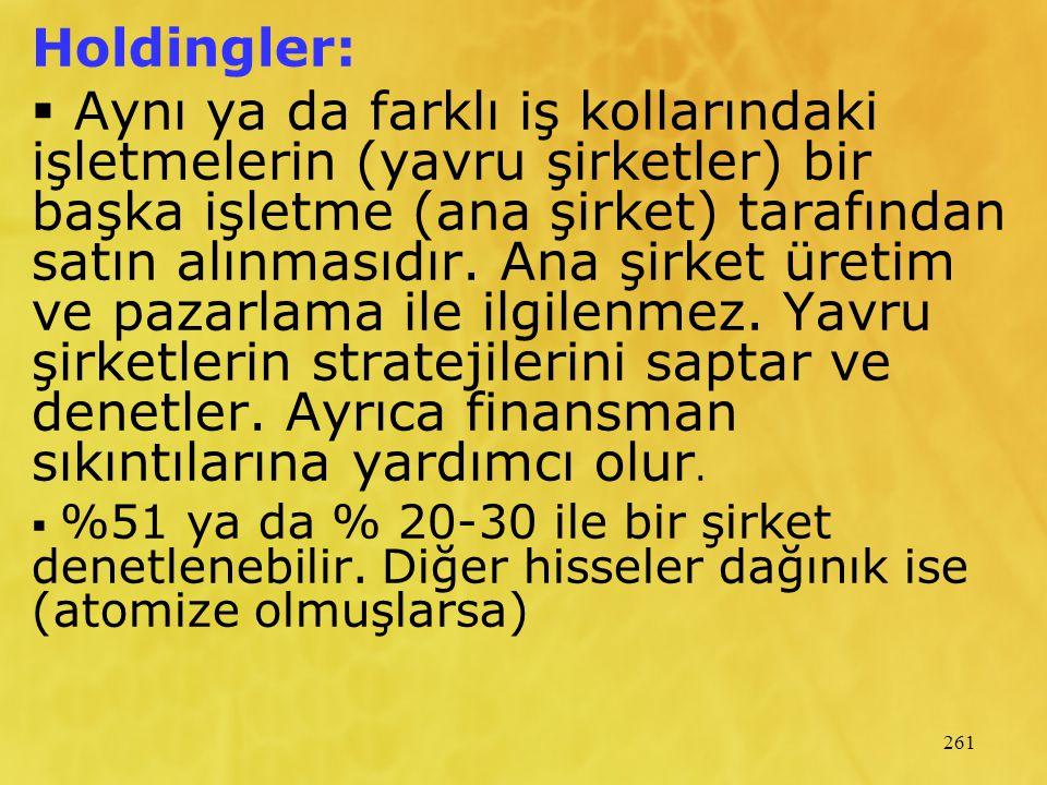 Holdingler:
