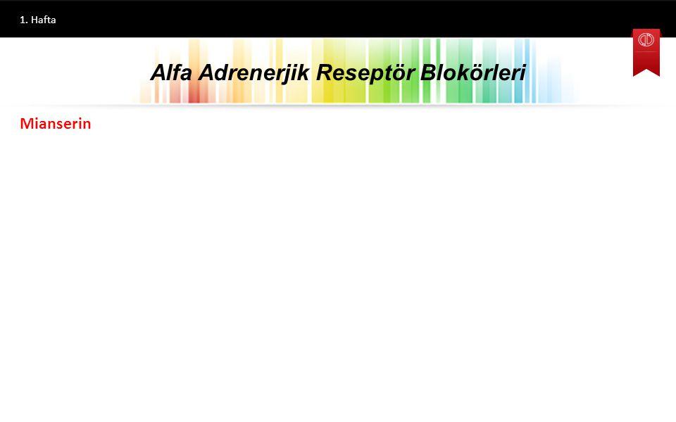 Alfa Adrenerjik Reseptör Blokörleri