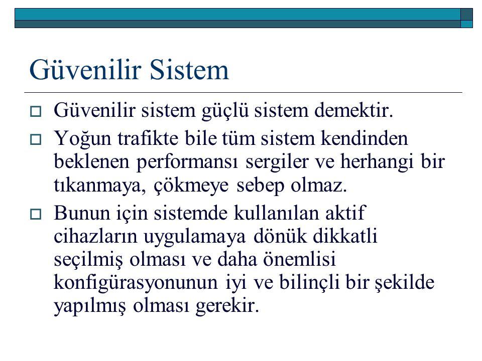 Güvenilir Sistem Güvenilir sistem güçlü sistem demektir.