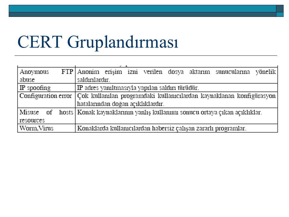 CERT Gruplandırması