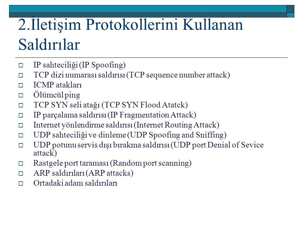 2.İletişim Protokollerini Kullanan Saldırılar