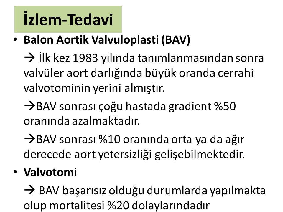 İzlem-Tedavi Balon Aortik Valvuloplasti (BAV)