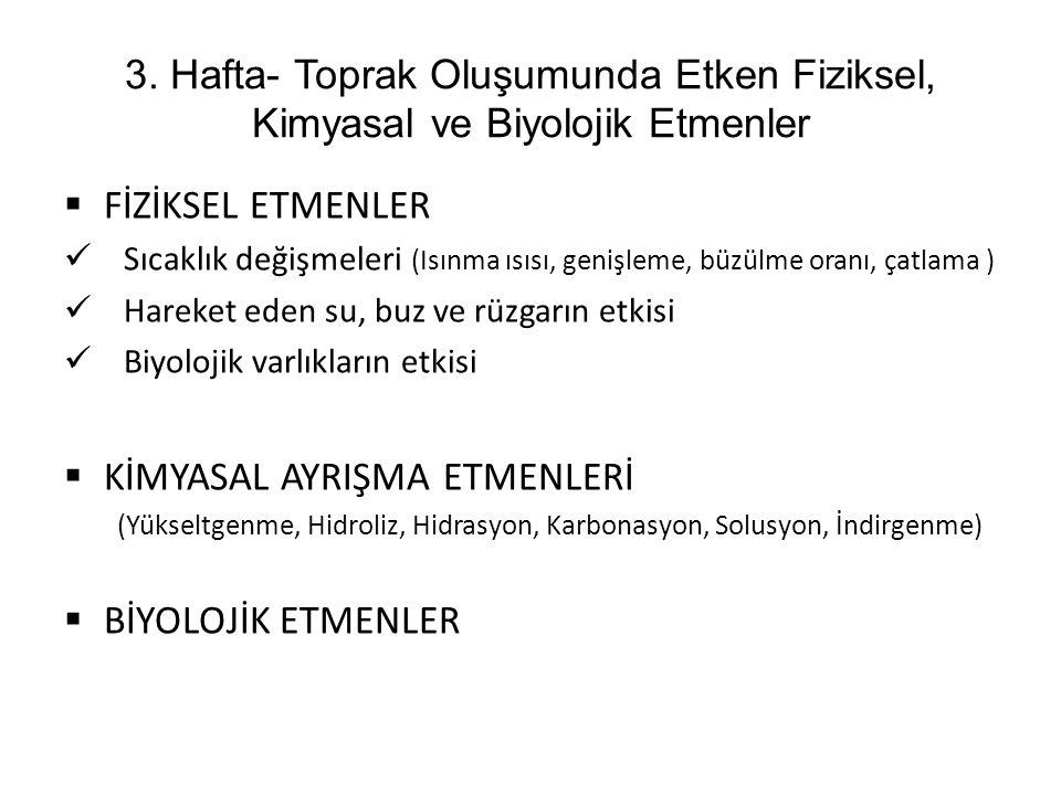 KİMYASAL AYRIŞMA ETMENLERİ