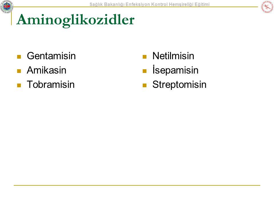 Aminoglikozidler Gentamisin Amikasin Tobramisin Netilmisin İsepamisin