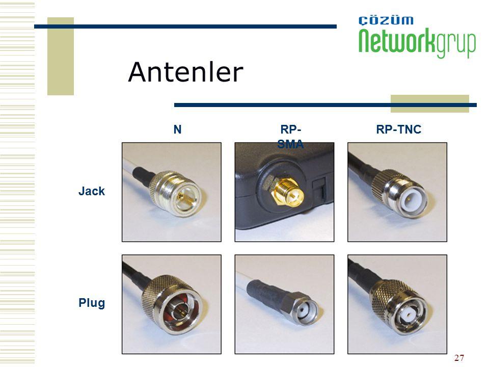 Antenler Jack Plug N RP-SMA RP-TNC