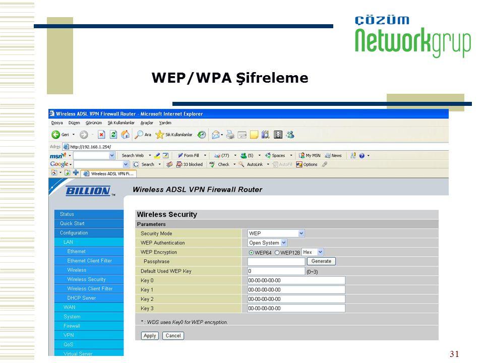 WEP/WPA Şifreleme
