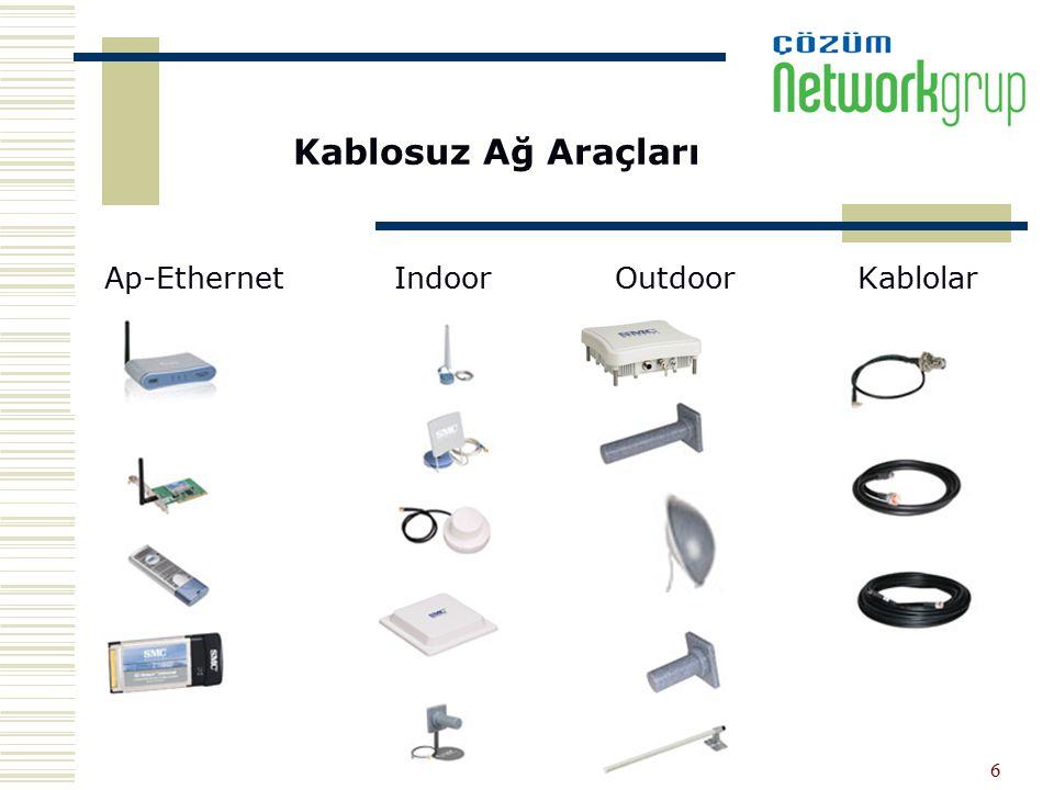 Kablosuz Ağ Araçları Ap-Ethernet Indoor Outdoor Kablolar