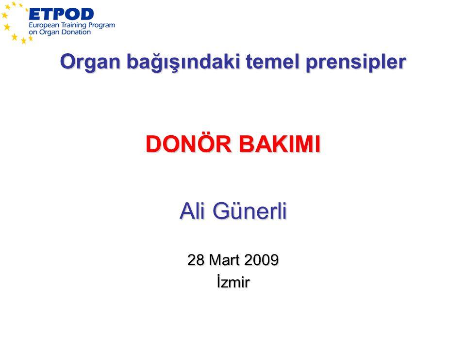 Organ bağışındaki temel prensipler