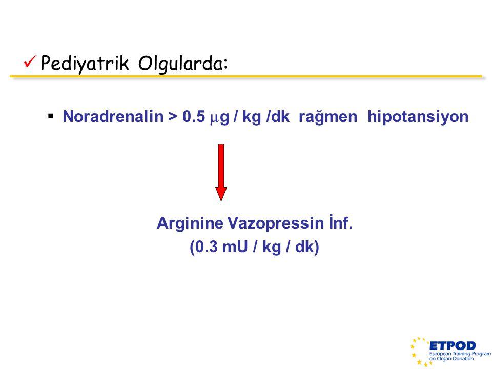 Arginine Vazopressin İnf.