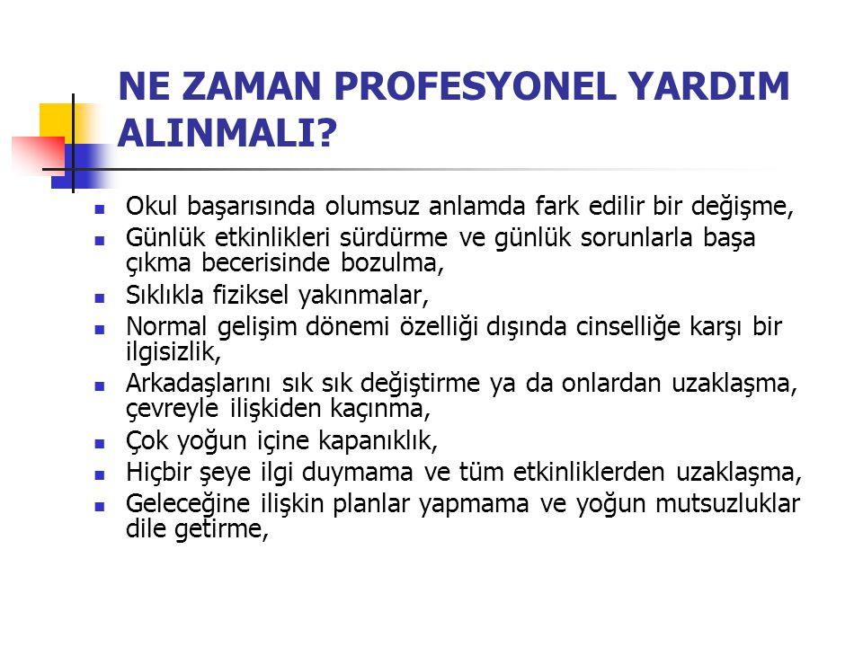NE ZAMAN PROFESYONEL YARDIM ALINMALI