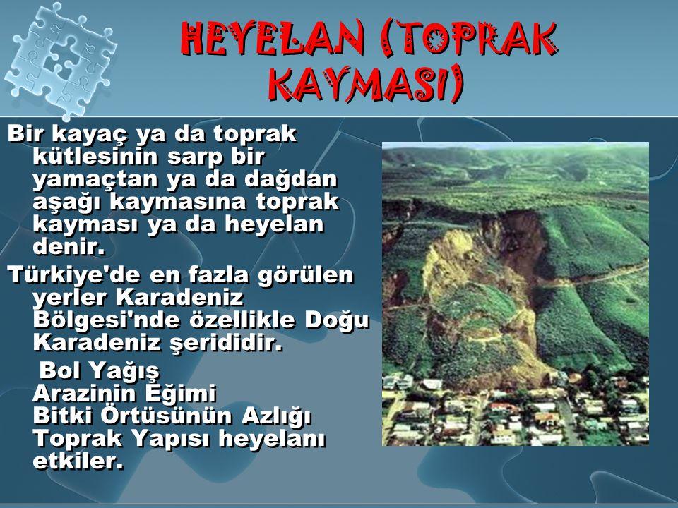 HEYELAN (TOPRAK KAYMASI)