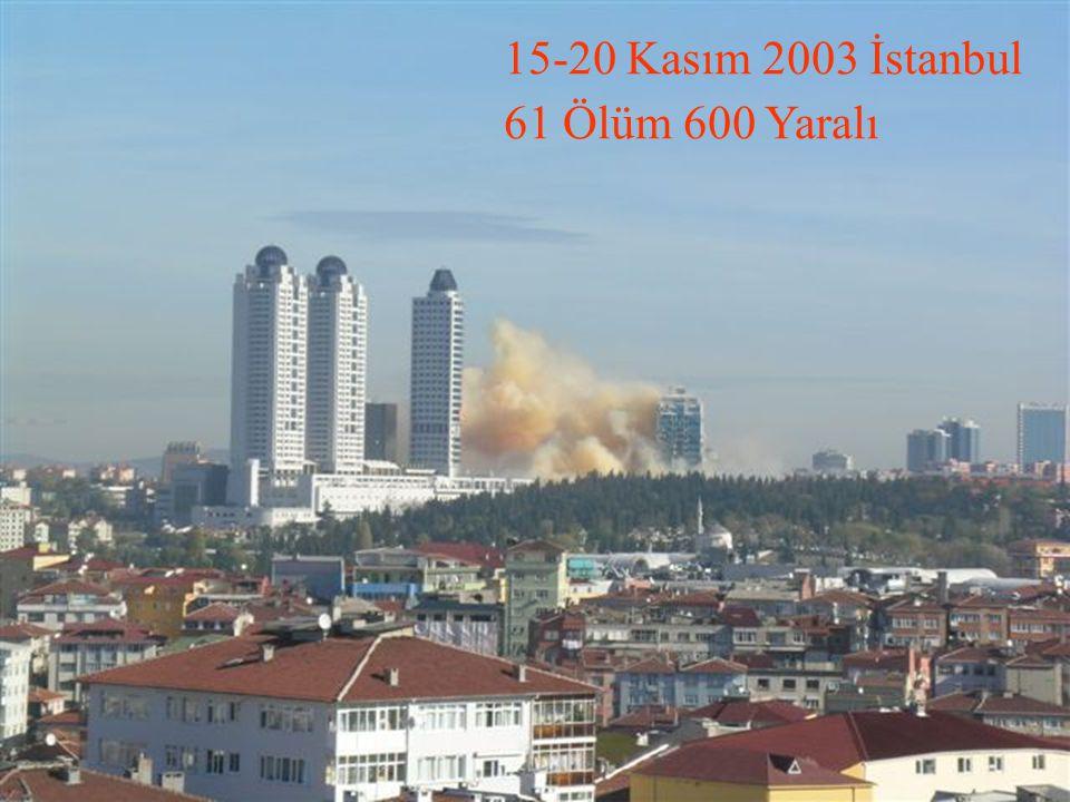 15-20 Kasım 2003 İstanbul 61 Ölüm 600 Yaralı