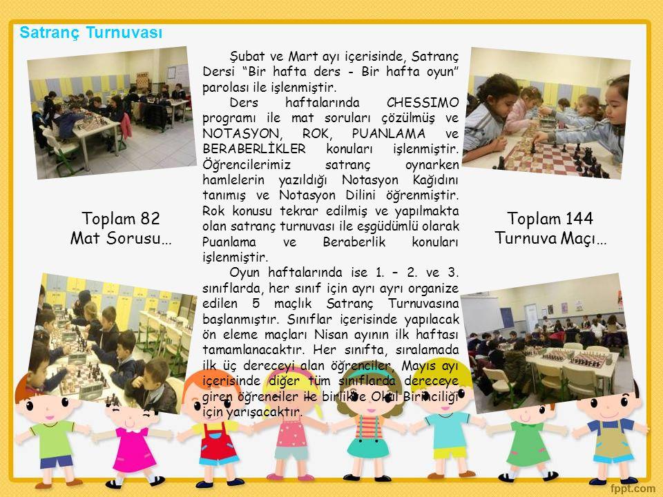 Satranç Turnuvası Toplam 82 Mat Sorusu… Toplam 144 Turnuva Maçı…