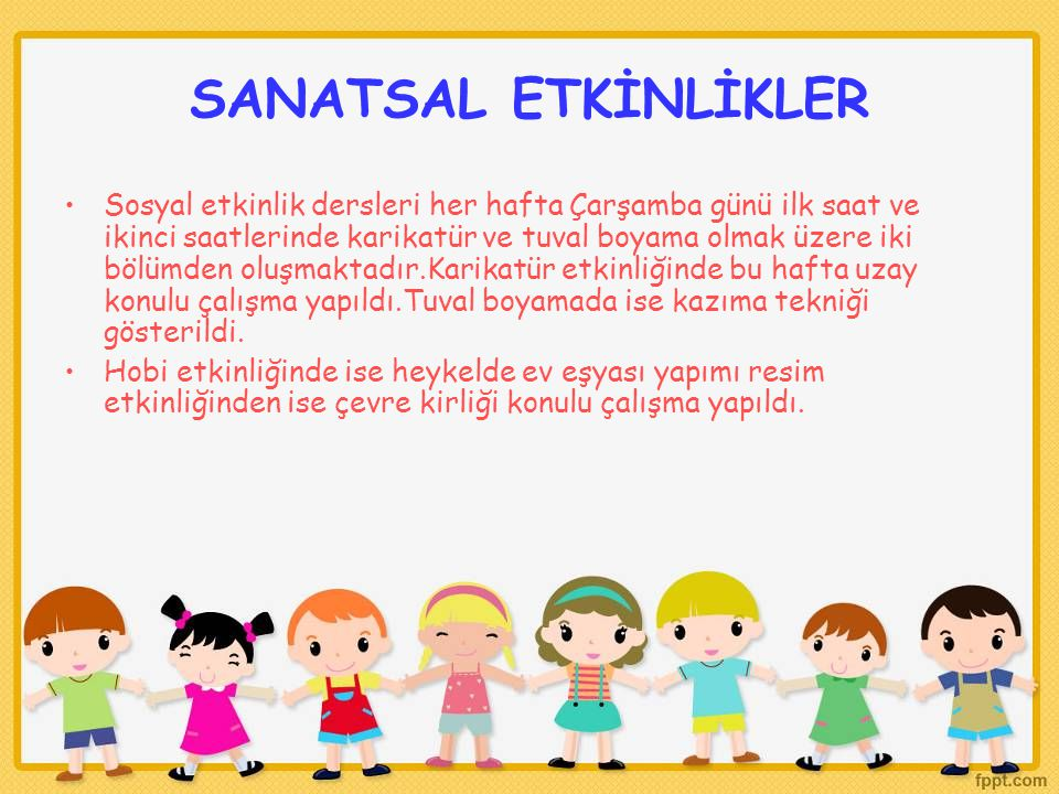 SANATSAL ETKİNLİKLER