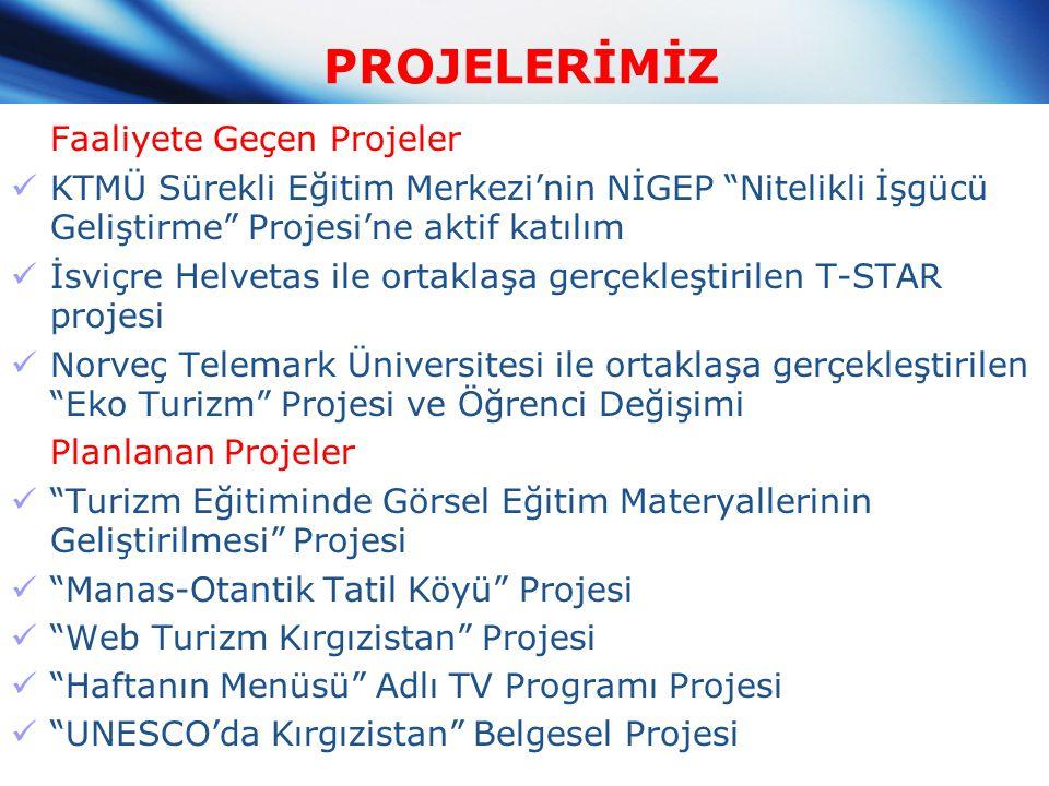 PROJELERİMİZ Faaliyete Geçen Projeler