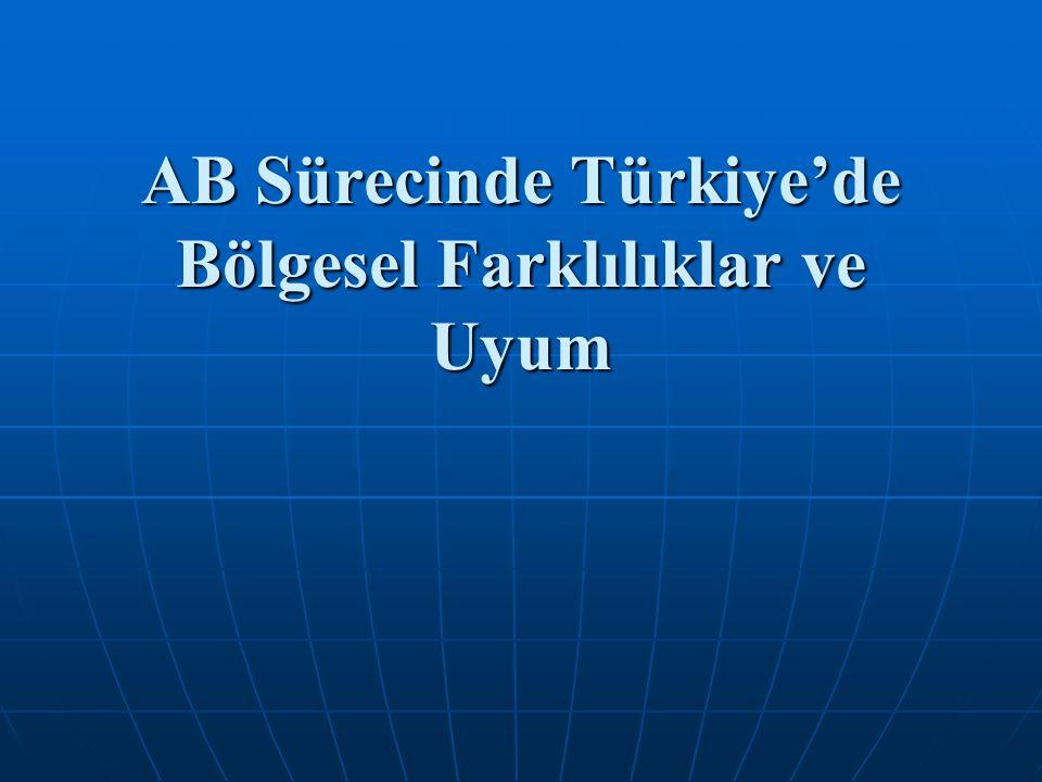 AB Sürecinde Türkiye'de Bölgesel Farklılıklar ve Uyum