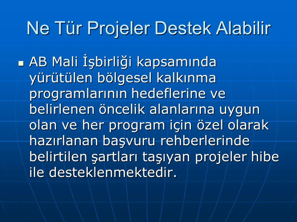 Ne Tür Projeler Destek Alabilir