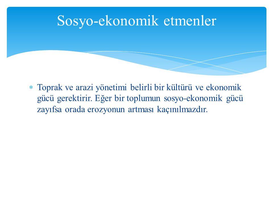 Sosyo-ekonomik etmenler