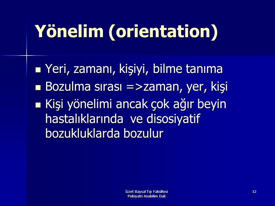 Yönelim (orientation)