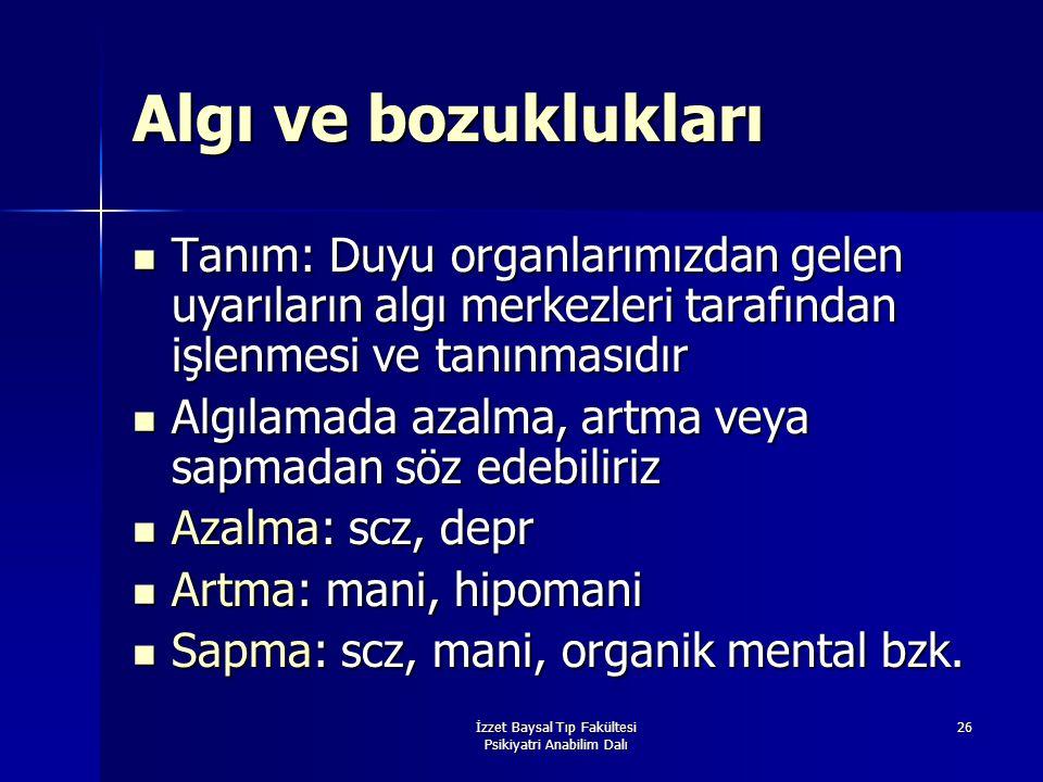 İzzet Baysal Tıp Fakültesi Psikiyatri Anabilim Dalı