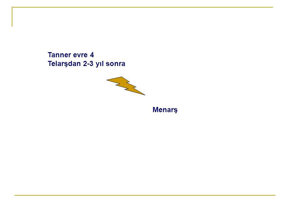 Tanner evre 4 Telarşdan 2-3 yıl sonra Menarş