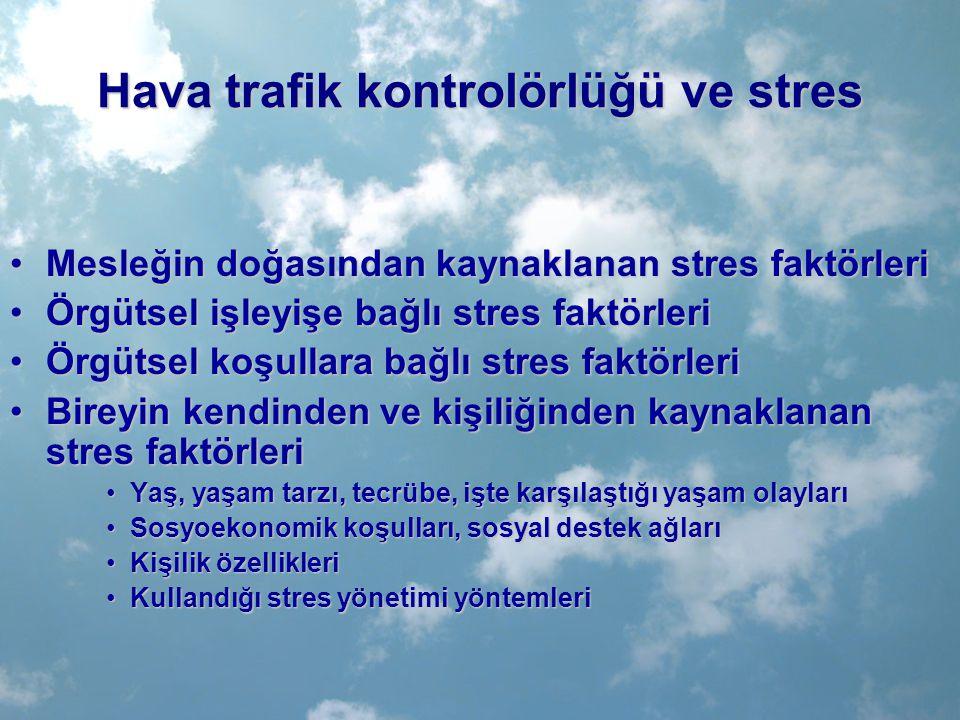 Hava trafik kontrolörlüğü ve stres