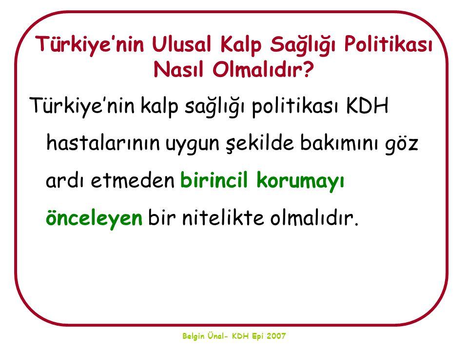 Türkiye'nin Ulusal Kalp Sağlığı Politikası Nasıl Olmalıdır