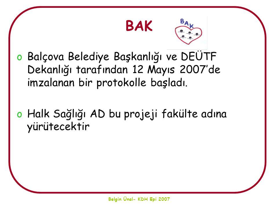 BAK Balçova Belediye Başkanlığı ve DEÜTF Dekanlığı tarafından 12 Mayıs 2007'de imzalanan bir protokolle başladı.