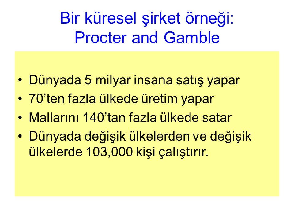 Bir küresel şirket örneği: Procter and Gamble