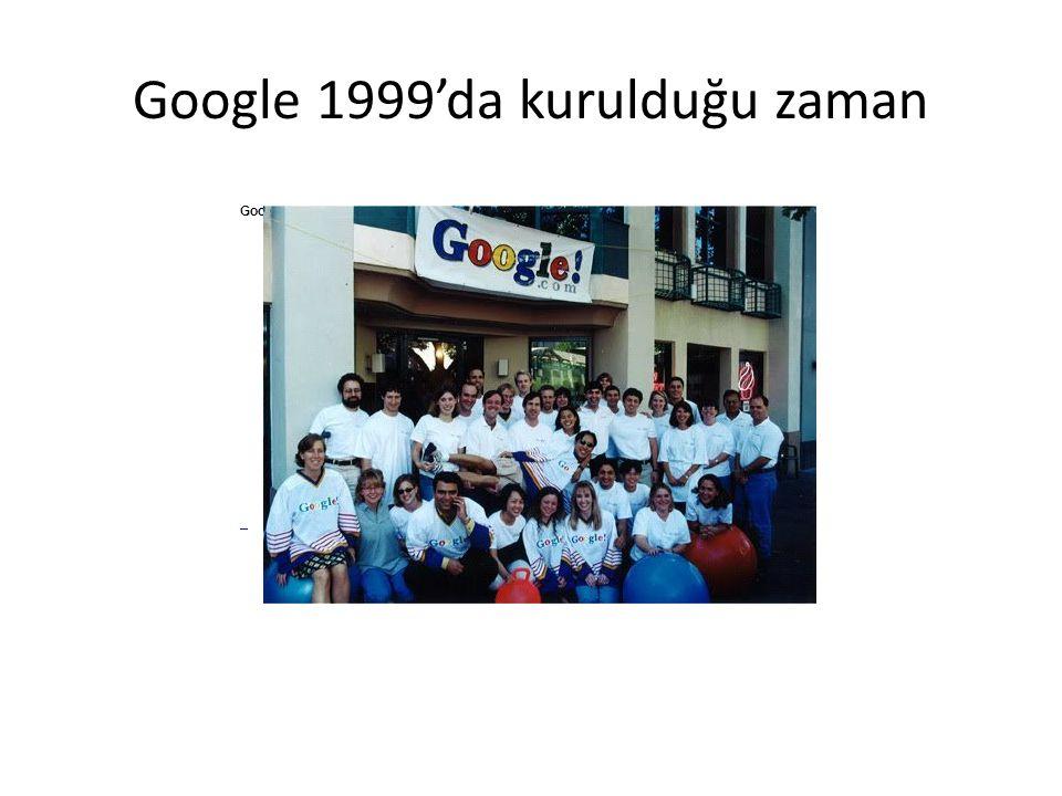 Google 1999'da kurulduğu zaman