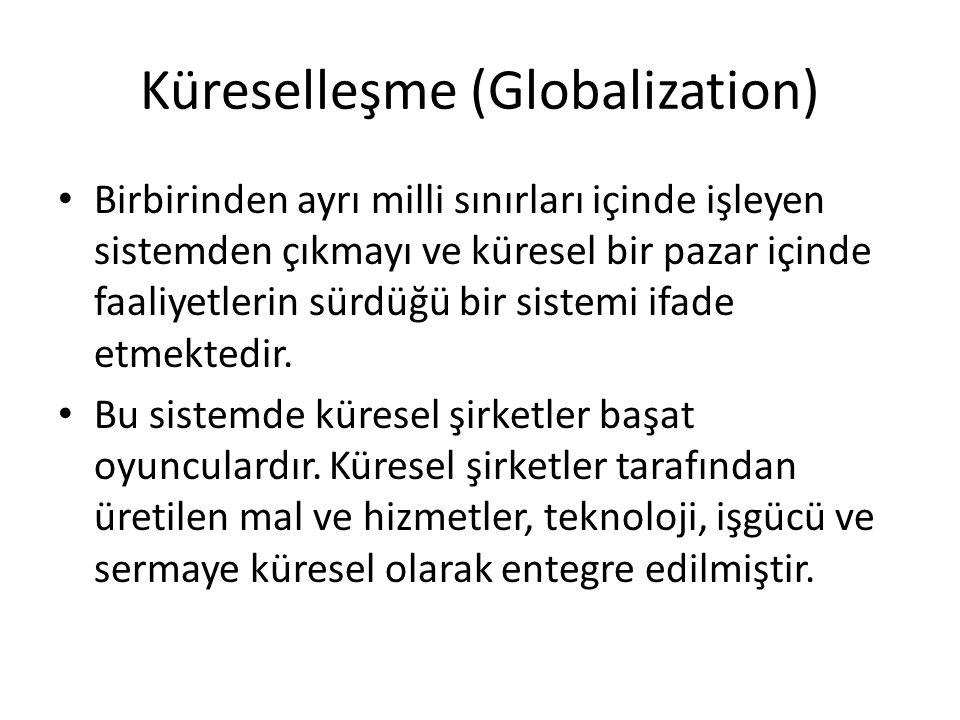 Küreselleşme (Globalization)