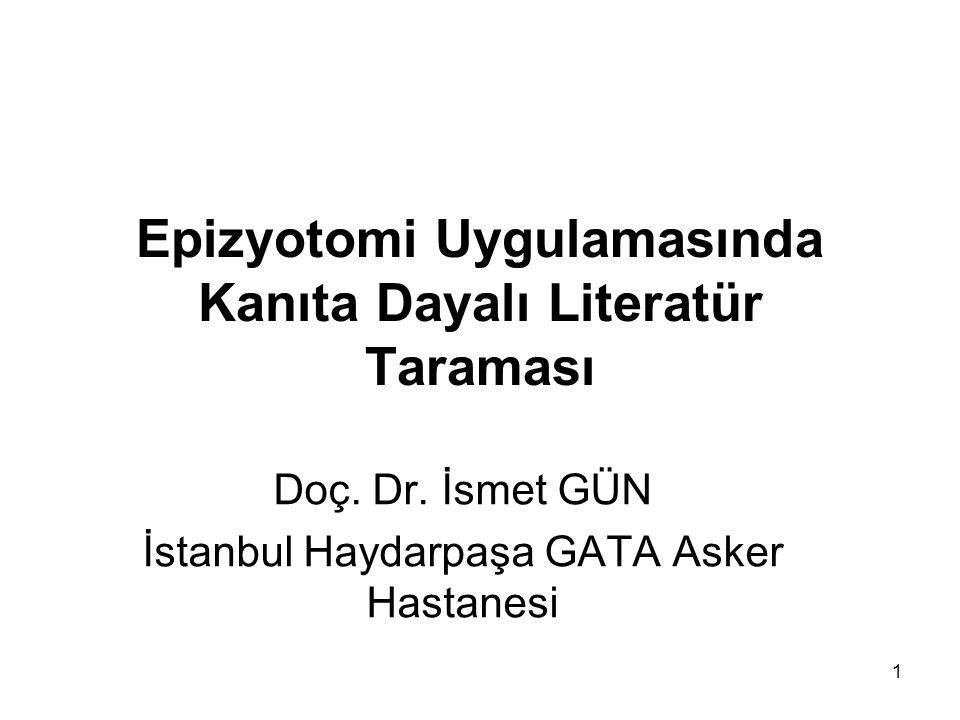 Epizyotomi Uygulamasında Kanıta Dayalı Literatür Taraması