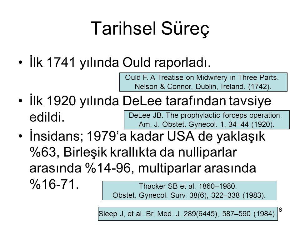 Tarihsel Süreç İlk 1741 yılında Ould raporladı.