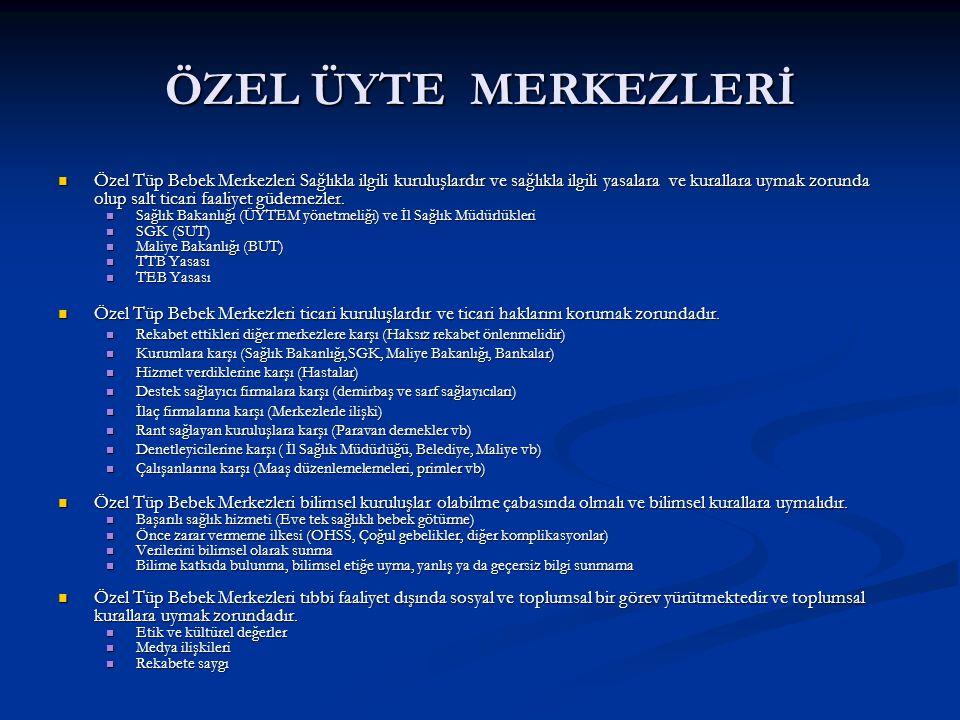 ÖZEL ÜYTE MERKEZLERİ